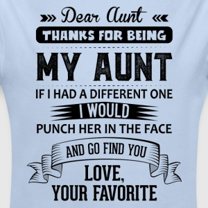 Dear Aunt, Thanks For Being My Aunt, Love Baby Bodysuits - Longlseeve Baby Bodysuit