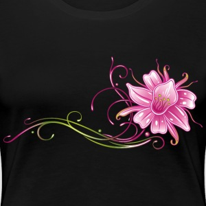 Colorful orchid with filigree ornament T-Shirts - Women's Premium T-Shirt