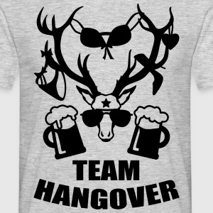 Team Hangover Hirsch JGA Bier Beer Party T-Shirt - Männer T-Shirt