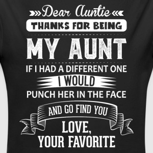 Dear Auntie, Thanks For Being My Aunt Baby Bodysuits - Longlseeve Baby Bodysuit