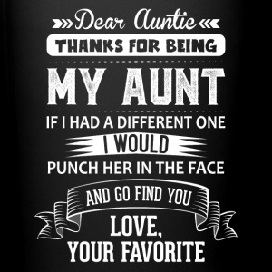 Dear Auntie, Thanks For Being My Aunt Mugs & Drinkware - Full Colour Mug