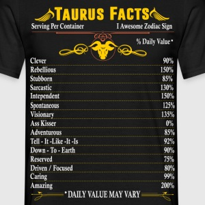 Taurus Facts Zodiac T-Shirts - Men's T-Shirt