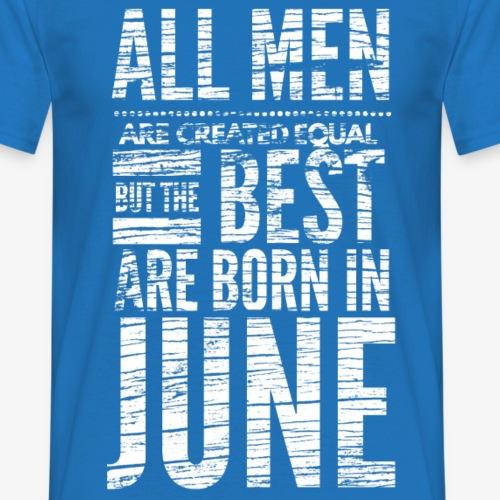 mannen juni verjaardag shirt design