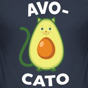 Avocato | Cute Avocado Cat Design T-shirts - Slim Fit T-shirt herr