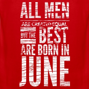 birthday shirt design men born in june  Sports wear - Men's Premium Tank Top
