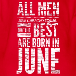 birthday shirt design men born in june  Baby Bodysuits - Organic Short-sleeved Baby Bodysuit
