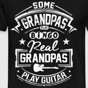 Real Grandpas Play Guitar T-Shirts - Männer Premium T-Shirt