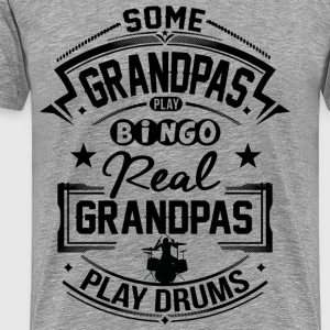 Real Grandpas Play Drums T-Shirts - Männer Premium T-Shirt