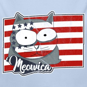 FREEDOM Cat USA Flag - Patriotische Katze Baby Bodys - Baby Bio-Langarm-Body