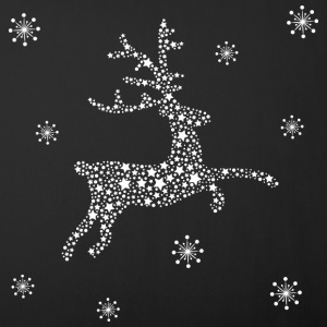 Deer of stars and snowflakes, reindeer Other - Sofa pillow cover 44 x 44 cm