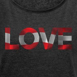 i love austria T-Shirts - Women's T-shirt with rolled up sleeves