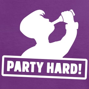 party hard silhouette T-Shirts - Frauen Kontrast-T-Shirt