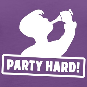 party hard silhouette Tops - Frauen Premium Tank Top