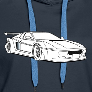 cool car white Sweat-shirts - Sweat-shirt à capuche Premium pour femmes