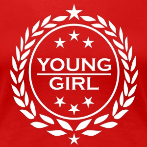 Young Sexy Girl Lorbeerkranz Sterne Model T-Shirt - Frauen Premium T-Shirt