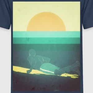 Surfing big Waves T-Shirts - Teenager Premium T-Shirt