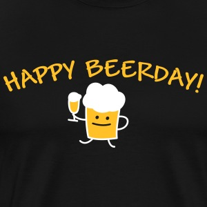 Happy Beerday (b) T-shirts - Premium-T-shirt herr