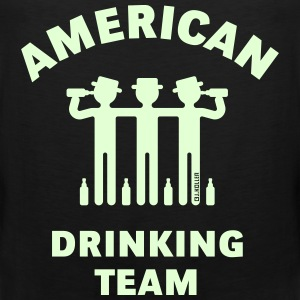 American Drinking Team (Booze / Beer / Alcohol) Sportbekleidung - Männer Premium Tank Top