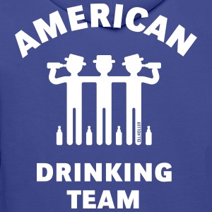 American Drinking Team (Booze / Beer / Alcohol) Hoodies & Sweatshirts - Men's Premium Hoodie