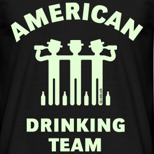 American Drinking Team (Booze / Beer / Alcohol) T-Shirts - Männer T-Shirt