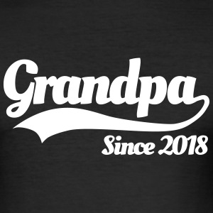 Grandpa since 2018 T-shirts - slim fit T-shirt