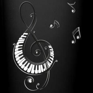Clef with piano and music notes, i love music. Mugs & Drinkware - Full Colour Mug