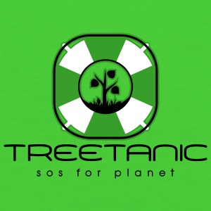 Treetanic sos for planet Safe the wood bär - Frauen Bio-T-Shirt