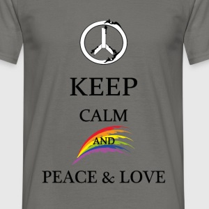 KEEP CALM and peace & love - Maglietta da uomo