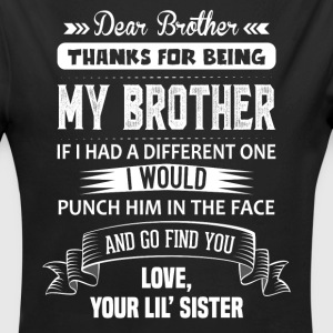 Dear Brother, Love, Your Lil Sister Baby Bodysuits - Longlseeve Baby Bodysuit