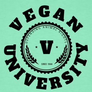Vegan University T-Shirts - Men's T-Shirt