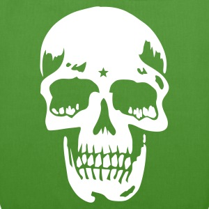 Leaf green skull pirate death heavy metal Bags  - EarthPositive Tote Bag