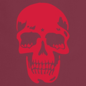 Rojo bordeaux skull pirate death heavy metal Delantales - Delantal de cocina