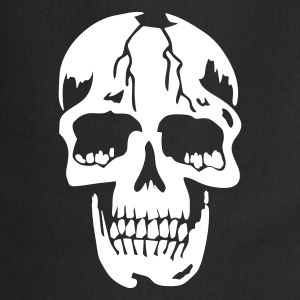 Zwart original death skull pirate Kookschorten - Keukenschort