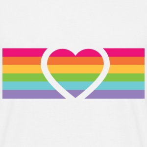 Rainbow Love T-shirts - Herre-T-shirt