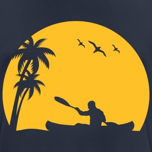Canoe Kayak paddle canoeists Sun Palm trees sports T-Shirts - Men's Breathable T-Shirt