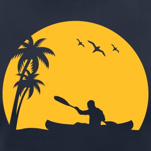 Canoe Kayak paddle canoeists Sun Palm trees sports T-Shirts - Women's Breathable T-Shirt