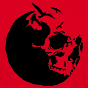 Red killing moon skull mond Men's T-Shirts - Men's T-Shirt