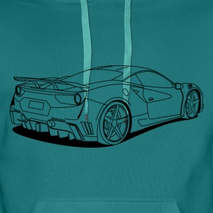 cool car outlines Sweaters - Mannen Premium hoodie