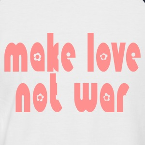 Weiß/navy make_love_not_war T-Shirts - Männer Baseball-T-Shirt