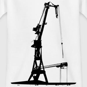 Harbour Crane shipyard shipbuilding dock Hamburg Shirts - Kids' T-Shirt