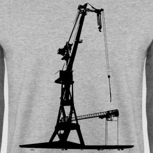 Harbour Crane shipyard shipbuilding dock Hamburg Hoodies & Sweatshirts - Men's Sweatshirt