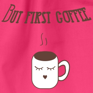 but_first_coffee Bags & Backpacks - Drawstring Bag