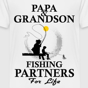 Papa And Grandson Fishing Partners For Life Shirts - Teenage Premium T-Shirt