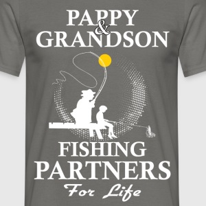 Pappy And Grandson Fishing Partners For Life T-Shirts - Men's T-Shirt