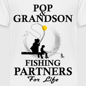 Pop And Grandson Fishing Partners For Life Shirts - Teenage Premium T-Shirt