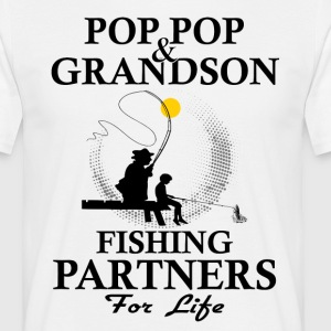 Pop Pop And Grandson Fishing Partners For Life T-Shirts - Men's T-Shirt