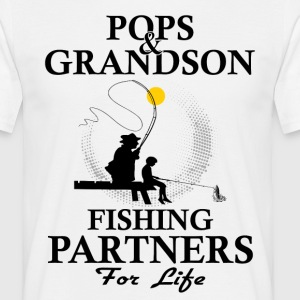 Pops And Grandson Fishing Partners For Life T-Shirts - Men's T-Shirt