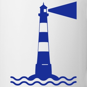 Lighthouse waves sea shipping sea coast Mugs & Drinkware - Mug