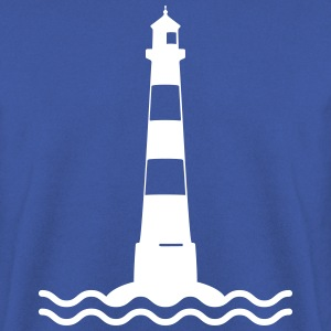 Lighthouse bølger sea shipping kyst Sweatshirts - Herre sweater