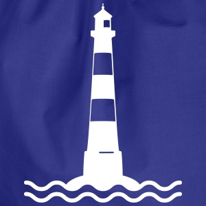Lighthouse waves sea shipping sea coast Bags & Backpacks - Drawstring Bag